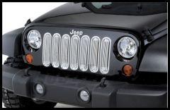 Rugged Ridge Billet Grille Inserts in Chrome For 2007-18 Jeep Wrangler JK 2 Door & Unlimited 4 Door Models 11401.20