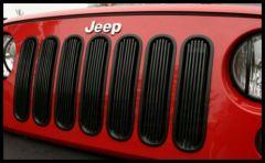 Rugged Ridge Billet Grille Inserts in Black For 2007-18 Jeep Wrangler JK 2 Door & Unlimited 4 Door Models 11401.30