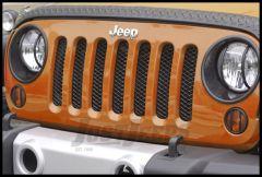 Rugged Ridge Mesh Grille Insert in Gloss Black For 2007-18 Jeep Wrangler JK 2 Door & Unlimited 4 Door Models 11401.31