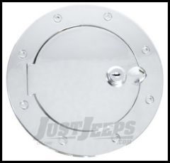 Rugged Ridge Locking Gas Hatch Cover in Polished Aluminium 1997-06 TJ Wrangler, Rubicon and Unlimited 11425.07