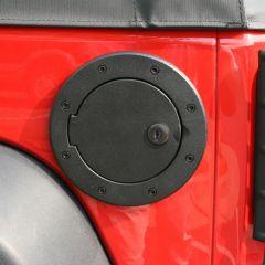 Rugged Ridge Locking Gas Hatch Cover in Black Painted Aluminum For 2007-18 Jeep Wrangler JK 2 Door & Unlimited 4 Door Models 11425.06