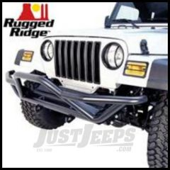 Rugged Ridge RRC Front Grille Guard Bumper Textured black powder coat For 1987-06 Wrangler, Rubicon and Unlimited 11502.11