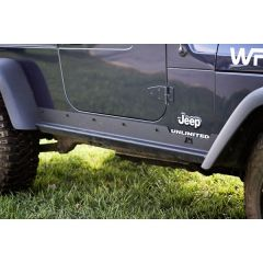 Rugged Ridge (Black) Rocker Panel Guards For 2003-06 Jeep Wrangler TJ Unlimited Models 11504.16