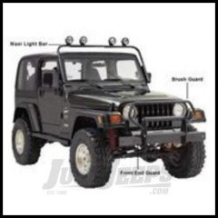 Rugged Ridge Brush Guard Black For 1976-95 Jeep Wrangler YJ and CJ 11512.03