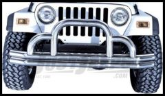 Rugged Ridge Stainless Steel Front Tubular Defender Bumper 1976-06 Wrangler YJ TJ and CJ Series 11521.01