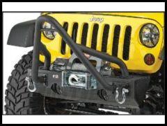 Rugged Ridge Modular XHD Front Bumper Stinger Hoop in Textured Black For Wrangler YJ TJ JK and CJ Series 11540.13