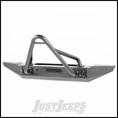 Rugged Ridge XHD Front Winch Mount Bumper With Over Rider Hoop, D-Rings & Stubby Bumper Ends For 1976-06 Jeep Wrangler YJ & TJ Models & Jeep CJ Series 11540.59