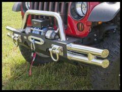 Rugged Ridge Modular XHD Front Bumper Tubular Ends in Stainless Steel For 2007-18 Jeep Wrangler JK 2 Door & Unlimited 4 Door Models 11540.73