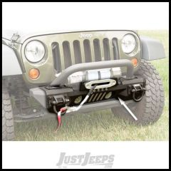 Rugged Ridge Front Aluminum Bumper W/Winch Plate Textured Black For 2007-18 Jeep Wrangler JK 2 Door & Unlimited 4 Door Models 11541.01