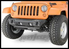 Rugged Ridge Front Aluminum Bumper Ends Textured Black For 2007-18 Jeep Wrangler JK 2 Door & Unlimited 4 Door Models 11541.10