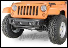 Rugged Ridge Front Non Winch Steel Bumper Textured Black For For 2007-18 Jeep Wrangler JK 2 Door & Unlimited 4 Door Models 11542.02