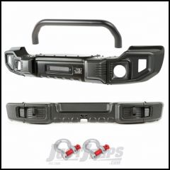 Rugged Ridge Spartacus Front & Rear Bumper Set With Over-Rider Bar & D-Ring Shackles For 2007-18 Jeep Wrangler JK 2 Door & Unlimited 4 Door Models 11544.61