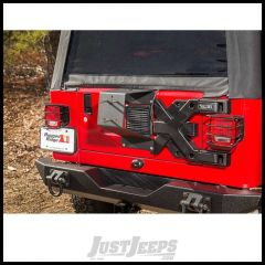 Rugged Ridge Spartacus HD Tire Carrier Wheel Mount in Textured Black For 1987-06 Jeep Wrangler YJ & TJ Models 11546.62