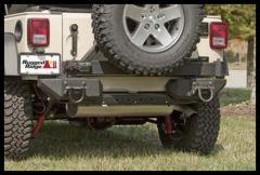 Rugged Ridge XHD Aluminum Rear Bumper Pods in Textured Black For 2007-18 Jeep Wrangler JK 2 Door & Unlimited 4 Door Models 11547.01