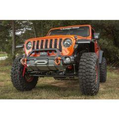 Rugged Ridge Venator Front Stubby Bumper with Overrider Bar for 18+ Jeep Wrangler JL, JLU & Gladiator JT 11549.45