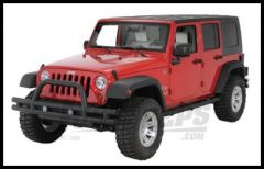 Rugged Ridge Front Tube Bumper Textured Black For 2007-18 Jeep Wrangler JK 2 Door & Unlimited 4 Door Models 11561.10