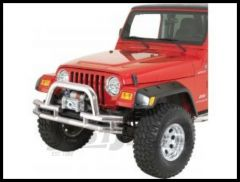 Rugged Ridge Double Tube Front Winch Bumper with Hoop in Stainless Steel 1976-06 Wrangler YJ TJ and CJ Series 11563.03