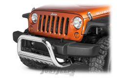 """Rugged Ridge 3"""" Stainless Steel Bull Bar For 2007-18 Jeep Wrangler JK 2 Door & Unlimited 4 Door Models 11565.02"""