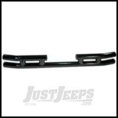 Rugged Ridge Rear Tube Bumper Gloss black powder coat without Hitch For 1987-06 Wrangler, Rubicon and Unlimited 11570.03