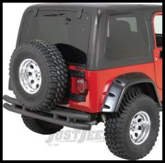 Rugged Ridge Rear Tube Bumper Textured Black without Hitch For 1987-06 Wrangler, Rubicon and Unlimited 11571.03