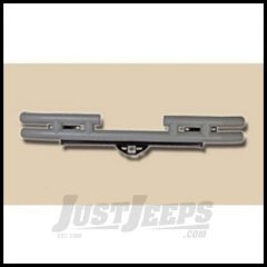 Rugged Ridge Dual Tube Rear Bumper Titanium with Hitch For 1987-06 Wrangler, Rubicon and Unlimited 11572.04