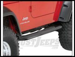 Rugged Ridge Side Step Bars Gloss Black For 1997-06 Jeep Wrangler TJ Models 11590.04