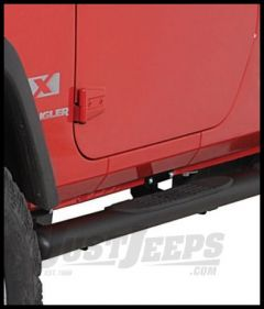 "Rugged Ridge 4"" Oval Tube Steps Textured Black For 2007-18 Jeep Wrangler JK 2 Door Models 11591.07"