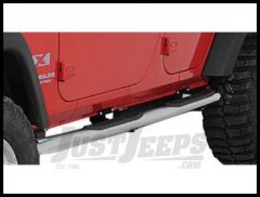 Rugged Ridge Side Step Bars Stainless Steel for 2007-18 JK Wrangler, Rubicon and Unlimited 4-Door 11593.06
