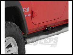 """Rugged Ridge 4"""" Oval Tube Steps Stainless steel For 2007-18 Jeep Wrangler JK 11593.07"""