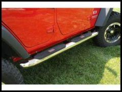 """Rugged Ridge 4"""" Round Stainless Steel Side Steps For 2007-18 Jeep Wrangler JK 2 Door & Unlimited 4 Door Models 4-door models 11593.10"""