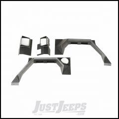 Rugged Ridge (Black) Rear XHD Steel Body Armor Fenders For 2007-18 Jeep Wrangler Unlimited 4 Door Models 11615.02