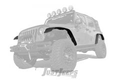 Rugged Ridge Flat Fender Flare 4-Piece Kit For 2007-18 Jeep Wrangler JK 2 Door & Unlimited 4 Door Models 11620.10