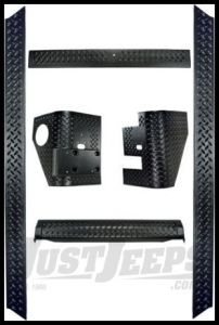 Rugged Ridge 6 Piece Body Armor Kit For 1997-06 Jeep Wrangler TJ Models 11650.61