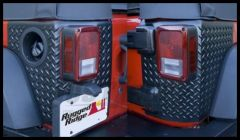 Rugged Ridge Body Armor Corner Guards in Black 2007+ JK Wrangler 2 Door 11651.02