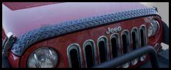 Rugged Ridge Body Armor Hood Guard in Black For 2007-18 Jeep Wrangler JK 2 Door & Unlimited 4 Door Models 11651.17