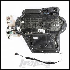 Omix-ADA Front Driver Door Panel Insert Assembly For 2007-10 Jeep Wrangler JK 2 Door & Unlimited 4 Door Models - Manual 11812.23