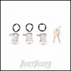 Omix-ADA Matching Set Of 3 Door Lock Cylinders For 1987-90 Jeep Wrangler YJ, 1984-90 Cherokee XJ & Comanche MJ 11813.12