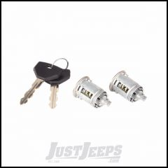 Omix-ADA Lock Cylinder & Key Kit For 1995-01 Jeep Wrangler YJ/TJ/XJ/ZJ Models (Pair) 11813.13