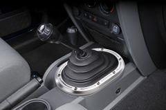 DV8 Off Road Billet Aluminum Manual Trans Shifter Bezel Trim For 2007-10 Jeep Wrangler JK 2 Door & Unlimited 4 Door D-JP-180008-BL