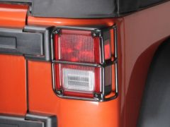 Rampage (Gloss Black) TailLight Guards For 2007-18 Jeep Wrangler JK 2 Door & Unlimited 4 Door Models 88660