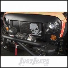Rugged Ridge Spartan Grille With Skull Insert In Satin Black For 2007-18 Jeep Wrangler JK 2 Door & Unlimited 4 Door Models 12034.33