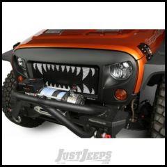Rugged Ridge Spartan Grille W/ Land Shark Insert in Satin Black For 2007-18 Jeep Wrangler JK 2 Door & Unlimited 4 Door Models 12034.34