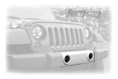 Omix-ADA Silver Front Bumper Applique For 2007-18 Jeep Wrangler JK 2 Door & Unlimited 4 Door Models 12040.08