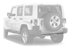 Omix-ADA Silver Rear Bumper Applique For 2007-18 Jeep Wrangler JK 2 Door & Unlimited 4 Door Models 12040.09