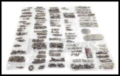 Omix-ADA Stainless Steel Body Fastener Kit (592 pc) For 1976-83 Jeep CJ5 Without Tailgate 12215.05