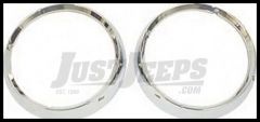 Rugged Ridge Chrome Headlight Bezels 72-86 CJ Series 12419.04