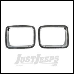 Rugged Ridge Headlight Bezel Set Chromed ABS plastic For 1987-95 Jeep Wrangler YJ 12419.05