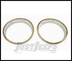 Rugged Ridge Headlight Bezels Chrome plated For 1997-06 Wrangler, Rubicon and Unlimited 12419.08