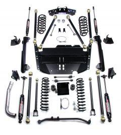 "TeraFlex 4"" Pro LCG Long Flexarm Suspension System w/ 9550 Shocks For 1997-06 Jeep Wrangler TJ 1249474"