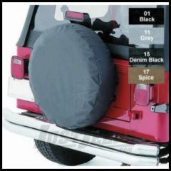 """Rugged Ridge Tire Cover For 30""""-32"""" In Black Denum - Universal 12802.15"""